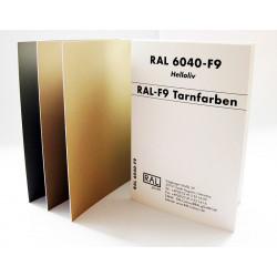 RAL F9 - Jednotlivé štítky...